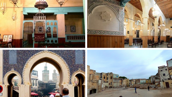 Four of 15 virtual tours of Fes available on The Moroccan Jewish Story in 360