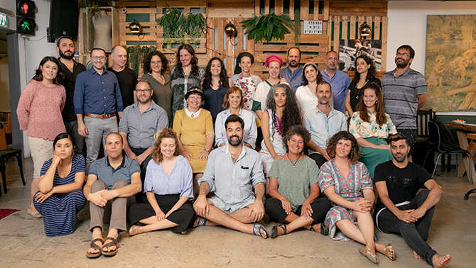 Faculty and graduates of Cohort 3 of the Mandel Program for Leadership in Jewish Culture