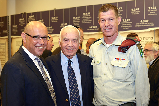 Dr. Eli Gottlieb, Mr. Morton L. Mandel and Brigadier-General Avner Paz-Tzuk
